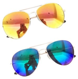 Other New Blue Mirrored Aviator Sunglasses
