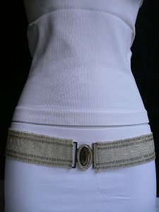 Other Women Dark Silver Metal Trendy Belt Low Hip High Waist 28-40
