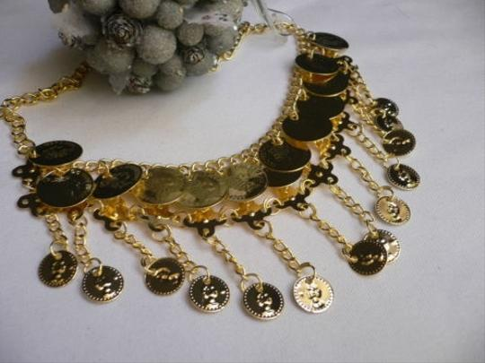 Other Women Gold Coins Necklace 10 Drop Moroccan Stylish Earring