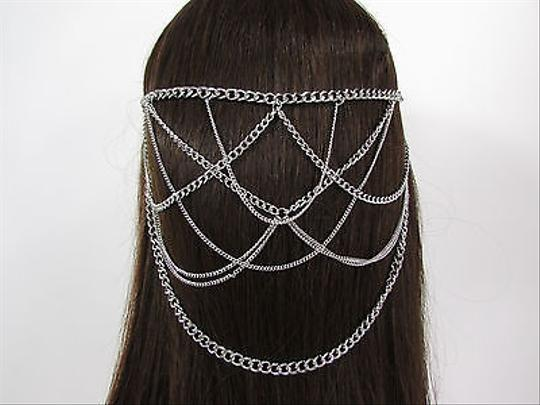 Other Women Waves Metal Head Chain Hair Piece Pins Jewelry Claws Gold Silver Black