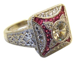 Other Xavier Created Ruby Sterling Silver Ring 7
