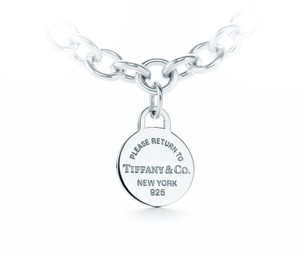 Tiffany & Co. Return To Tiffany Round Tag Pendant Sterling Silver ( Chain Not Included)