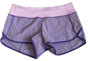 Lululemon new Without Tags Lululemon Speed Shorts Iris Flower Stripes Size 6