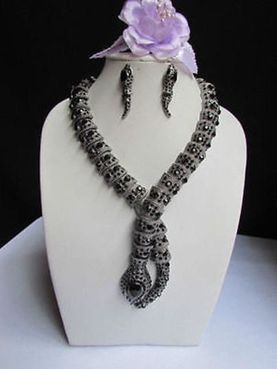 Other Women Pewter Antique Necklace Earring Set Snake Fashion Body Jewelry