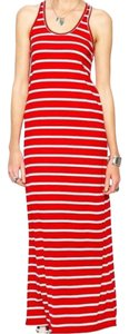 Red and white Maxi Dress by Ralph Lauren
