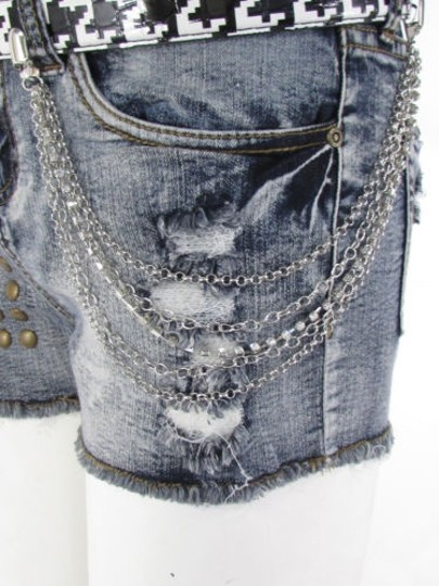 Other Women Belt Connected Silver Metal Strands Wallet Jeans Chain Fashion Jewelry
