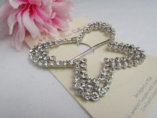 Other Women Silver Big Metal Butterfly Stylish Scarf Pendant Rhinestones
