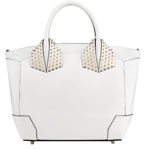 Christian Louboutin Studded Tote in White