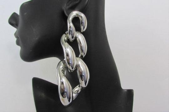 Other Women 5 Long Huge Chunky Link Chains Fashion Earrings Silver OR Gold