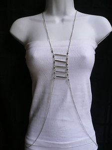 Other Women Silver Urban Metal Cool Body Chain Jewelry Trendy Long Necklace