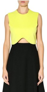 Blaque Label Knit Crop Yellow Top Lime/Yellow