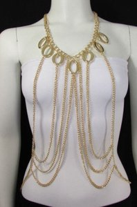 Other Women Gold Armor Special Metal Dress Body Chain Jewelry Trendy Necklace Fl