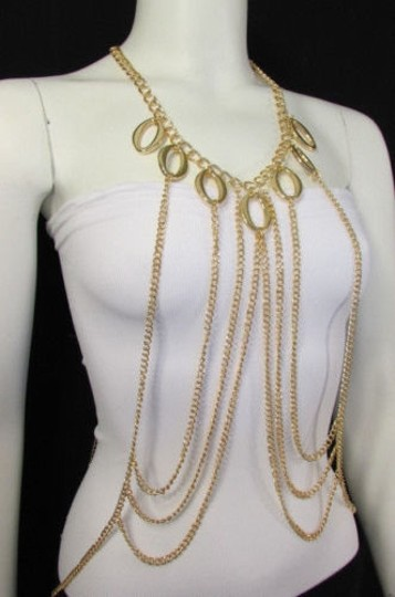 Other Women Gold Armor Special Metal Dress Body Chain Jewelry Trendy