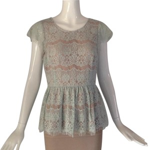 Anthropologie Top Light Blue