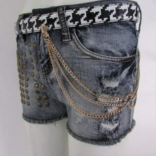 Other Women Jeans Chain Belt Connected Gold Ring Metal Strands Wallet Fashion Jewelry