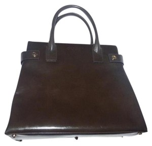 Gucci Multi-compartment Satchel in brown patent leather