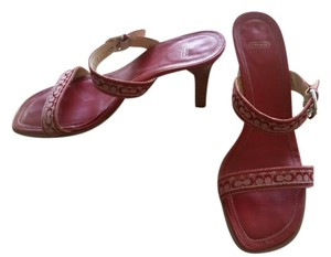 Coach Red Sandals