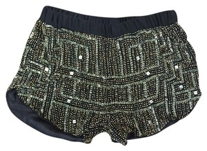 RAGA Beaded Slit Gatsby New Dress Shorts Black/gold/silver