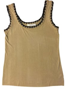 Bailey 44 Chain Silver Hardware Sleeveless Top Camel