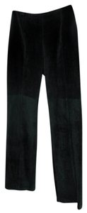Yansi Fugel Pig Suede Suede Straight Pants Black