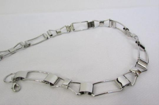 Other Women Silver Metal Chains Mini Bows Fashion Belt Low Hip Waist 28-40