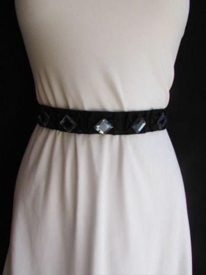 J.Crew J. Crew Women Black Fabric Thin Fashion Tie Belt Big Beads 25-35