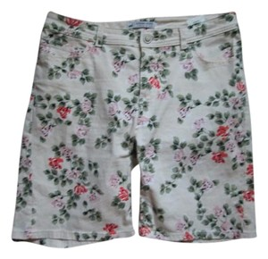 Lee Floral Stretchy Casual Summer Shorts Multicolored