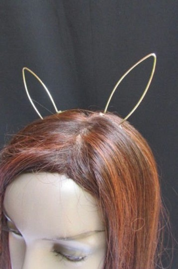 Other Women Head Band Silver Metal Long Cat Rabbit Ears Special Trendy Halloween