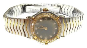 Ebel 18K Gold, Diamonds & Stainless Steel Classic Wave Watch