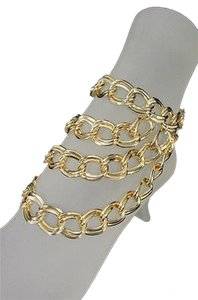 Women Gold Metal Chunky Chains Fashion Anklet Foot Chains Body Boot Leg Jewelry