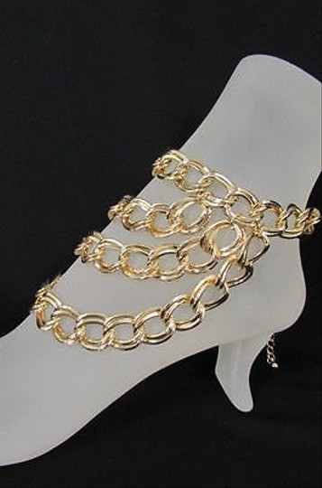 Other Women Gold Metal Chunky Chains Fashion Anklet Foot Chains Body Boot Leg Jewelry