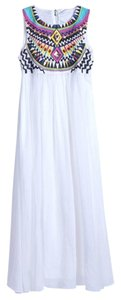 Chicwish Boho Wedding Embroidered Party Dress