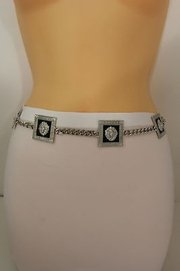 Other Women Fashion Belt Silver Metal Chain Links Lion Head Hip High Waist