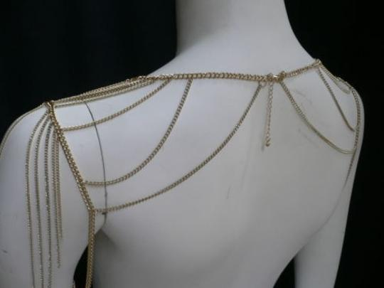 Other Women Gold Double Shoulders Body Chain Fashion Jewelry M.j. Style