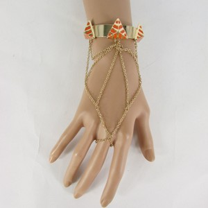 Other Women Gold Cuff Slave Bracelet Pyramid Orange Thin Hand Chain