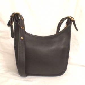 Coach Leather Vintage Hobo Messenger Cross Body Bag