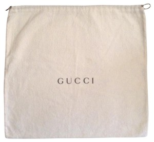 Gucci Vintage Cotton Dustbag Green Logo Silver Cord