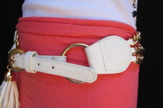 Other Women Hip Waist White Belt Faux Leather Fashion Western