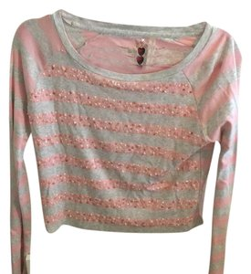 Twisted Heart Top Pink, gray