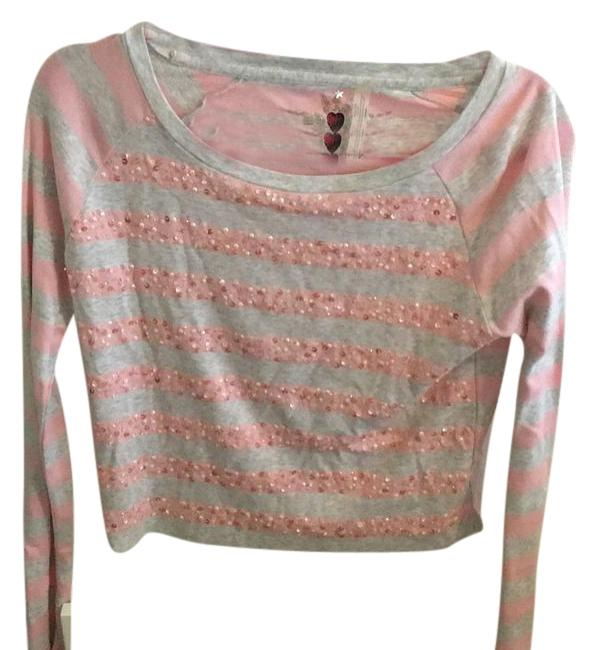 Twisted Heart Pink, Gray Sequin Stripe Shirt Top hot sale 2017