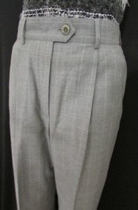 Escada Women Wool Classic Pin Stripes Suit Trousers 362 Pants