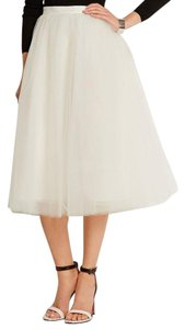Elizabeth and James Lela Rose Rebecca Taylor Tory Burch Tibi Alice + Olivia Skirt White