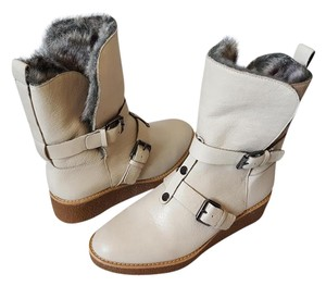 Rebecca Minkoff Leather Boot Ivory Boots