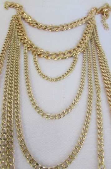 Other Women Long Layers Drop Fringes Gold Thick Thin Chains Fashion Necklace