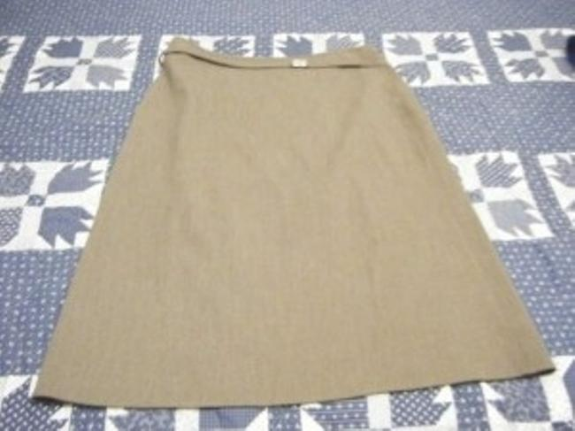 New Identity Skirt sideways brown herringbone design