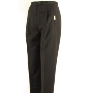 Escada Women Wool Winter Classic Plaited Dress Trousers 38 Pants