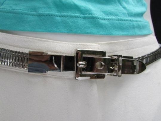 Other Casual Women Hip Waist Silver Thick Link Metal Thin Fashion Belt 33-35 Sm