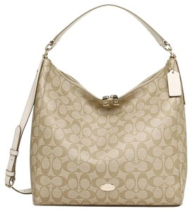Coach Large Beige Ivory Hobo Bag