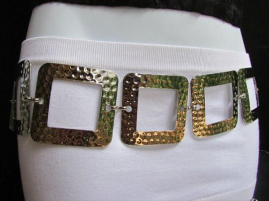 Other Women Hip Waist Silver Mesh Metal Wide Fashion Belt Big Squares