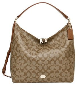 Coach Large Brown Tan Hobo Bag